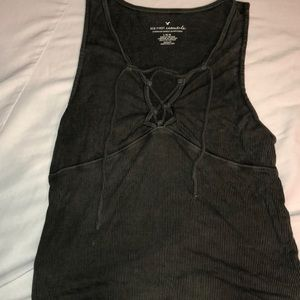 Tops - American Eagle Lace Up Tank Top
